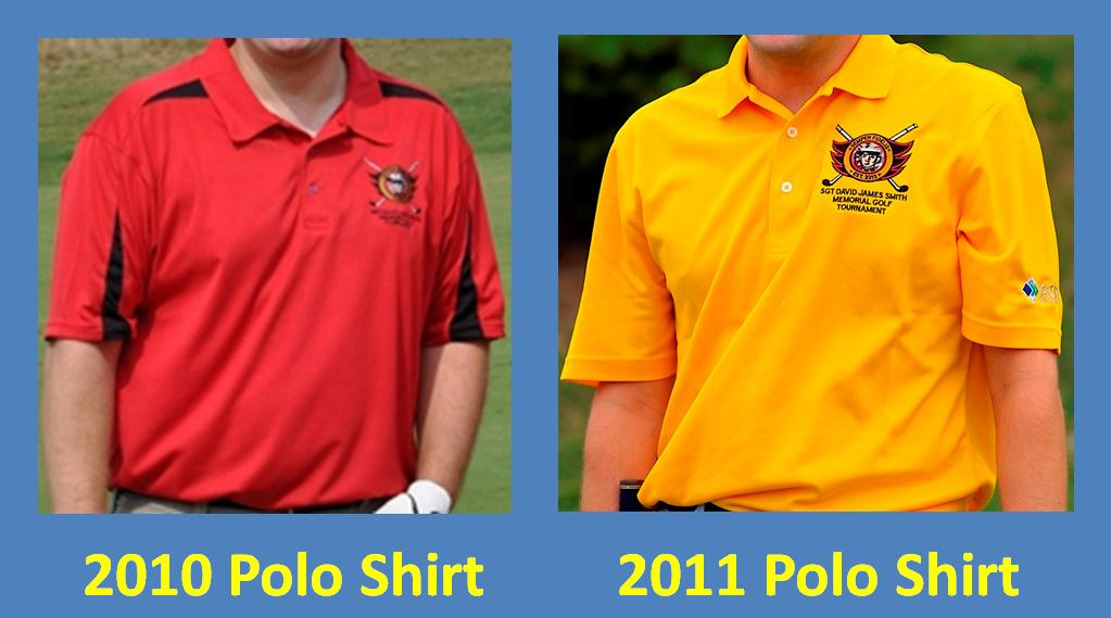 Tournament logo polo shirts the sgt david j smith for Order company polo shirts